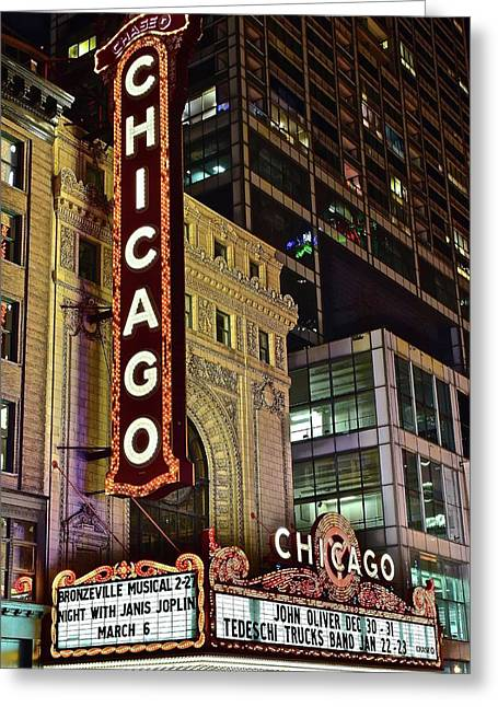 Chicago Theater Close Up Greeting Card by Frozen in Time Fine Art Photography