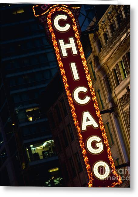Chicago Theater Neon Greeting Card