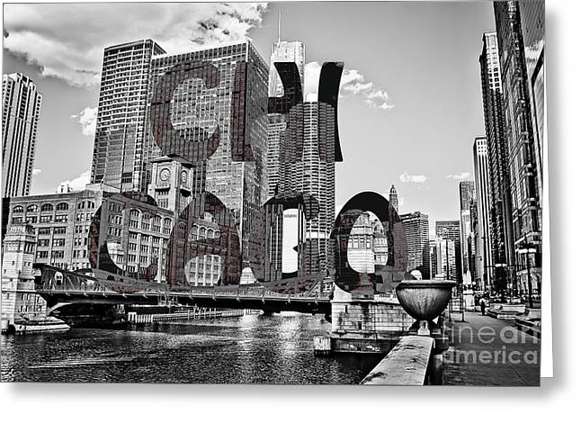 Chicago Typography  Greeting Card