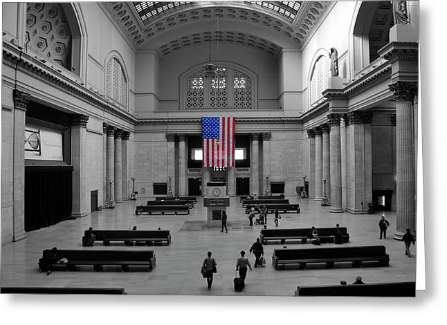 Chicago Union Station Greeting Card by Sheryl Thomas