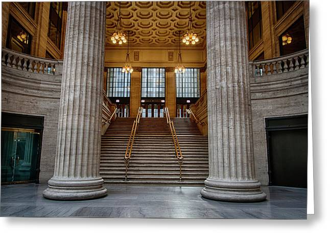 Chicago Union Station Stairs Greeting Card