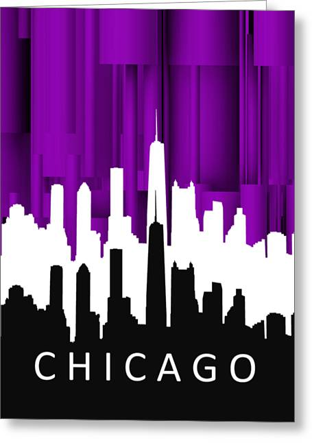 Chicago Violet In Negative Greeting Card