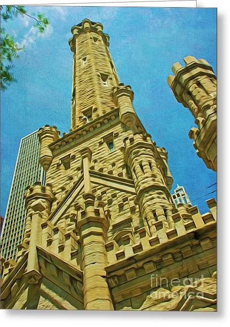 Chicago Water Tower Power Greeting Card