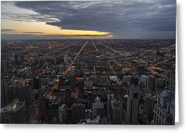 Greeting Card featuring the photograph Chicago Westward by Steven Sparks