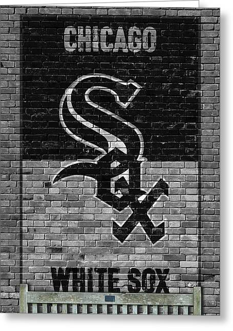 Chicago White Sox Brick Wall Greeting Card by Joe Hamilton