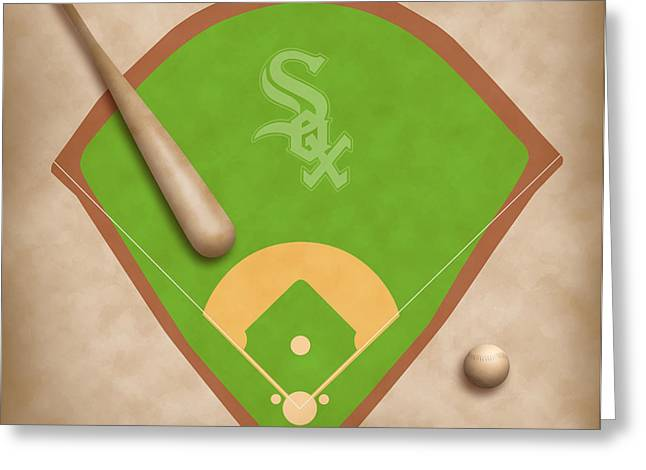 Chicago White Sox Field Greeting Card by Carl Scallop