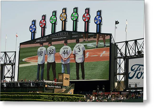 Chicago White Sox Scoreboard Thank You 12 22 44 3 Greeting Card