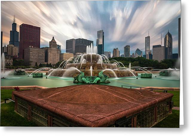 Chicago's Buckingham Fountain Greeting Card