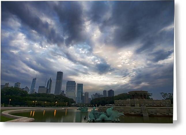 Chicago's Buckingham Fountain When It's Turned Off Greeting Card