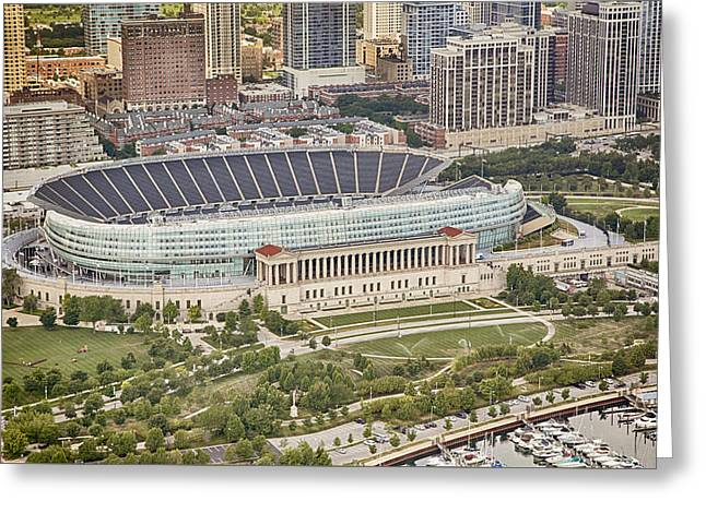 Chicago's Soldier Field Aerial Greeting Card