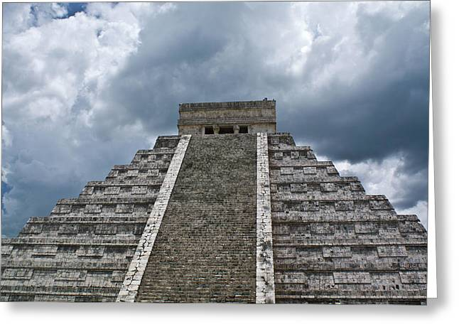 Solidity Greeting Cards - Chichen Itza 7 Greeting Card by Douglas Barnett