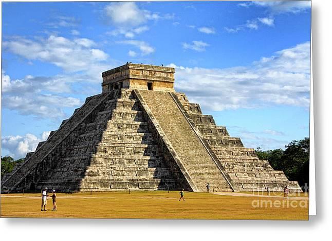 Chichen Itza Pyramid Greeting Card by Charline Xia