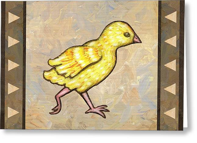Chick Four Greeting Card by Linda Mears