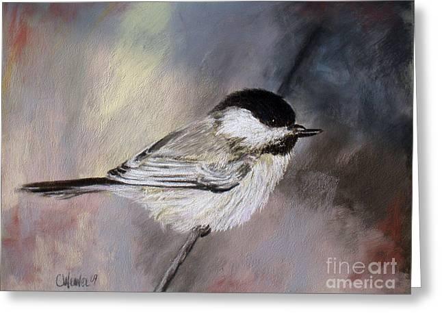 Chickadee Greeting Card by Cathy Weaver