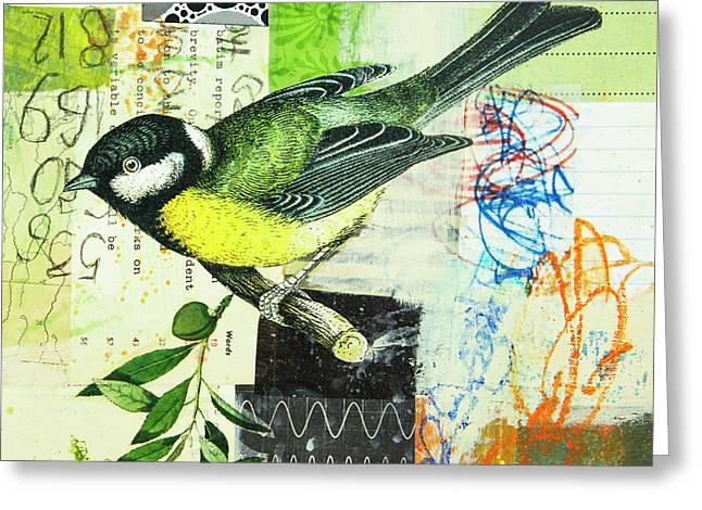 Chickadee Greeting Card by Elena Nosyreva