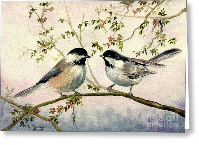 Chickadee Love Greeting Card