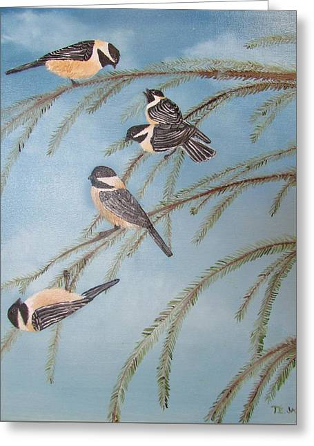 Chickadee Party Greeting Card