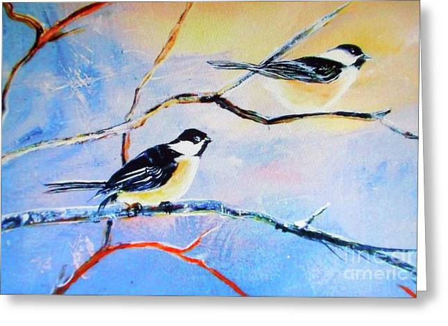 Black-capped Chickadees Limited Edition Prints 2-20 Set Decor In Wanderlust  Greeting Card