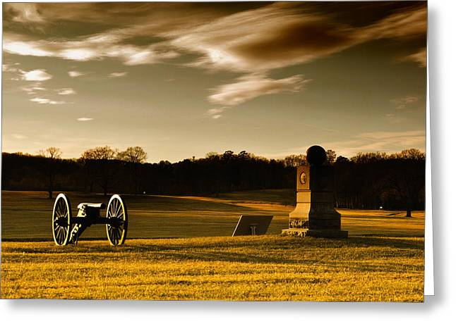 Chickamauga Sunset Greeting Card by Violet Clark