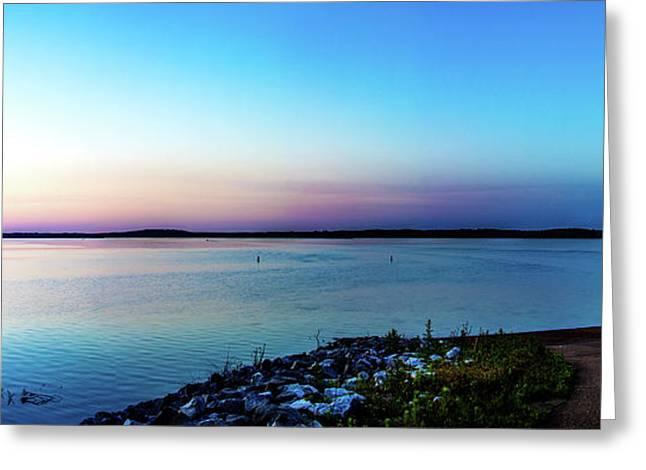 Chickasaw Landing Panorama Greeting Card by Barry Jones