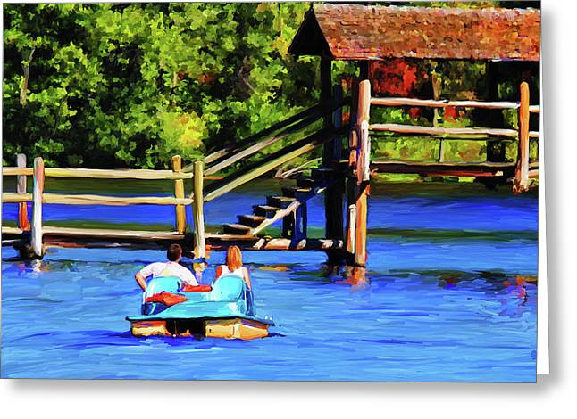 Chickasaw Pedal Boat Greeting Card by Jai Johnson