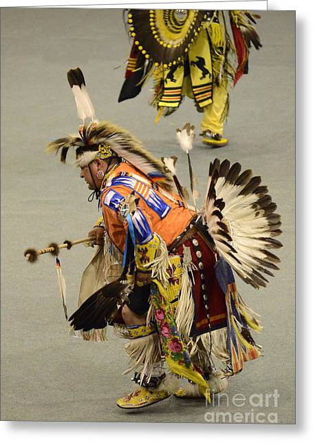 Pow Wow Chicken Dancers 3 Greeting Card by Bob Christopher