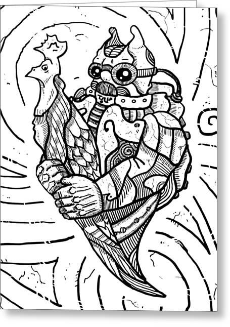 Chicken Master Greeting Card