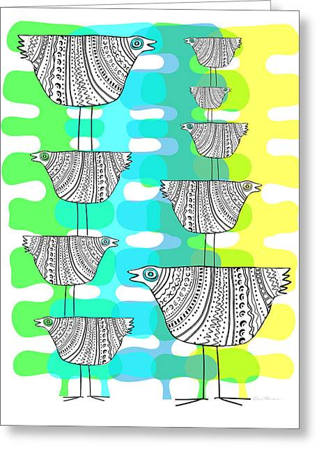 Chicken Stack Greeting Card