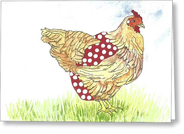 Hen With Diaper #1 Greeting Card