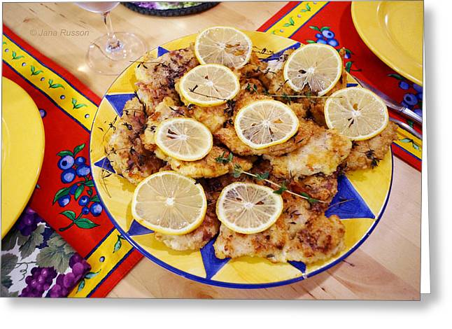 Chicken With Lemon Greeting Card