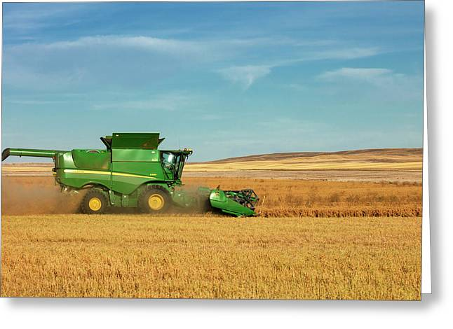 Chickpea Combine Greeting Card by Todd Klassy
