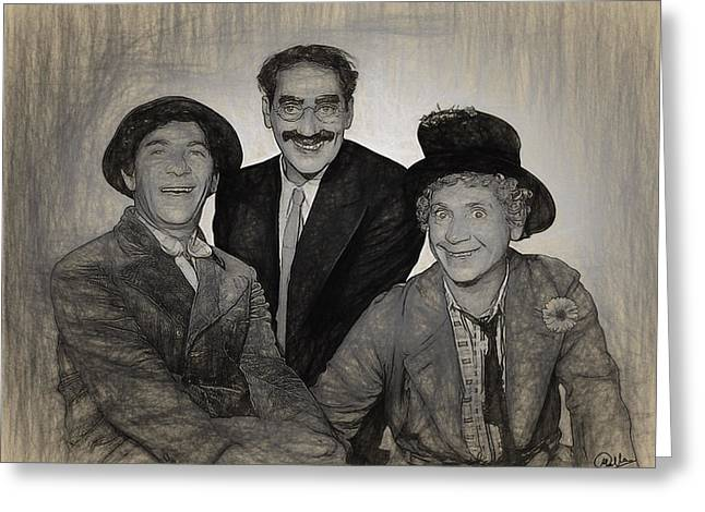 Marx Brothers Draw Greeting Card