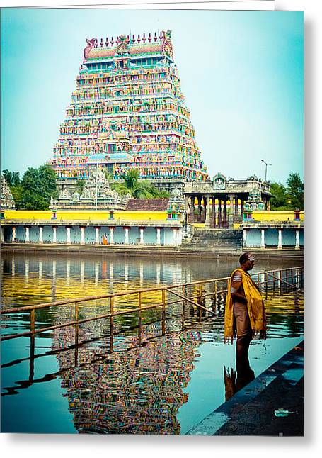 Chidambaram Temple Lord Shiva India Greeting Card