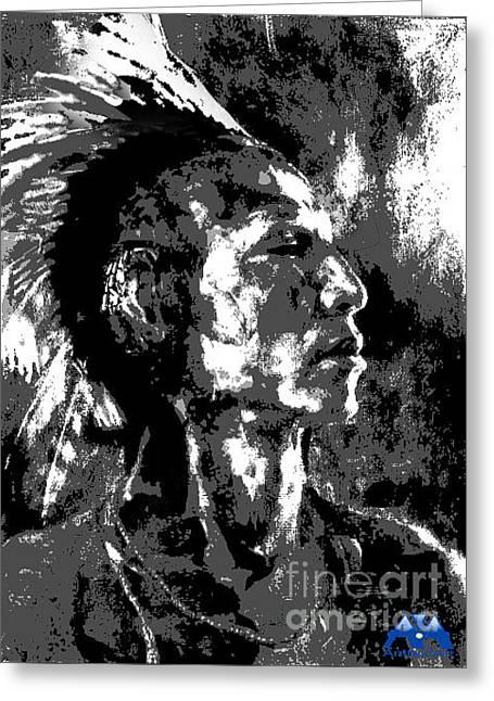 Chief Blackhawk Greeting Card by Anthony Franklin