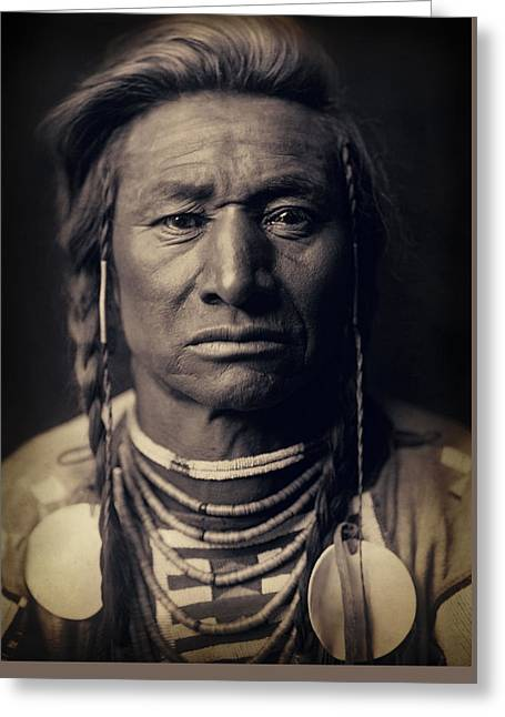 Chief Child Of The Crow Nation 1908 Greeting Card by Daniel Hagerman