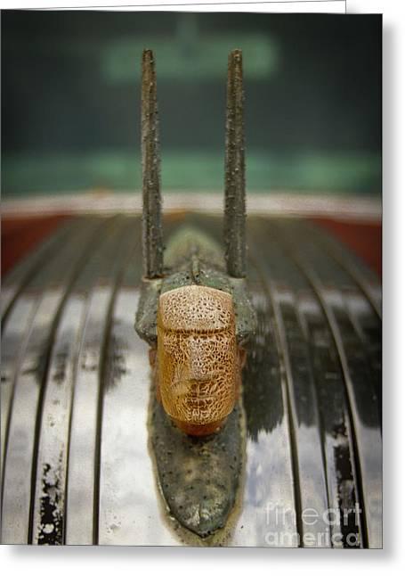 Chief Cracked Face 2 Pontiac Hood Ornament Art Greeting Card