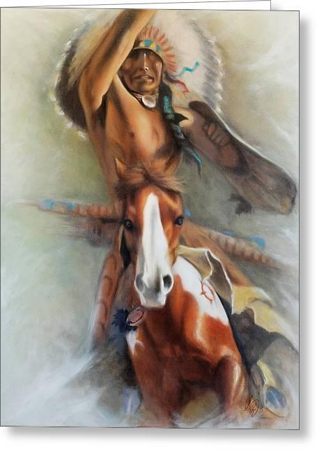 Chief Hole In The Day Greeting Card by Elizabeth Silk