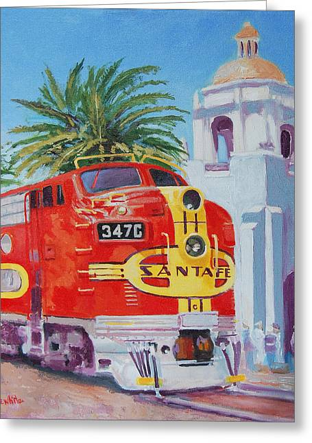 Chief In San Diego Greeting Card by Joe White