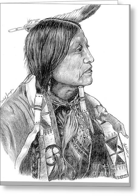 Chief Joseph Of Nes Perce Greeting Card