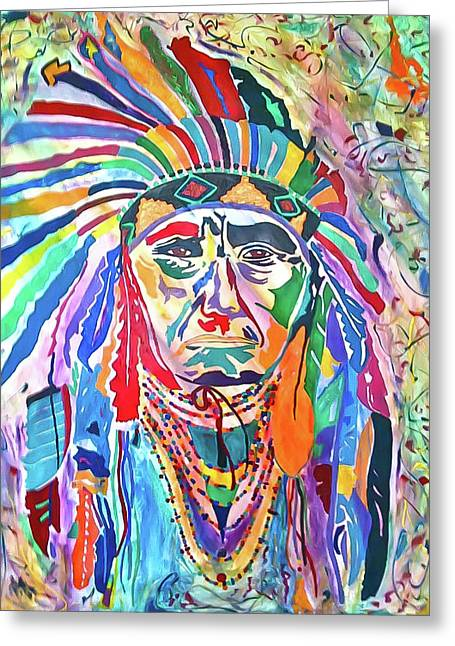 Chief Joseph Of The Nez Perce Greeting Card