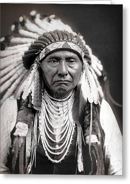 Chief Joseph Of The Nez Perce Tribe Greeting Card by Daniel Hagerman