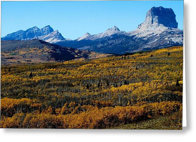 Chief Mountain In The Fall Greeting Card