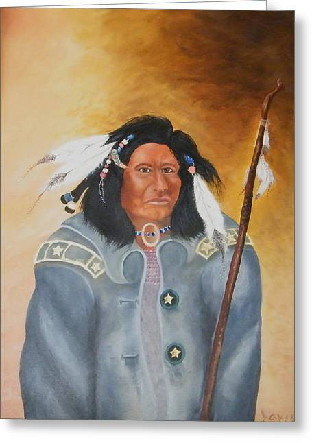 Chief Noneck Greeting Card by Larry Doyle