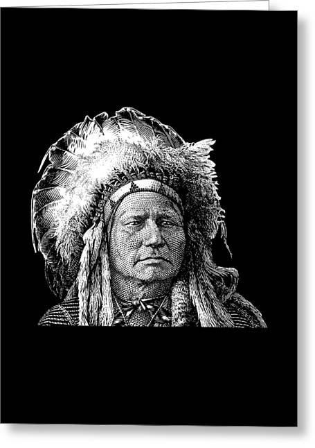 Chief Running Antelope - Native American History Greeting Card