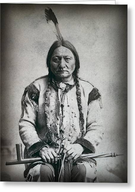 Chief Sitting Bull 1884 Greeting Card