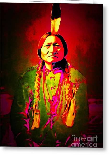 Chief Sitting Bull 20151228 Greeting Card by Wingsdomain Art and Photography