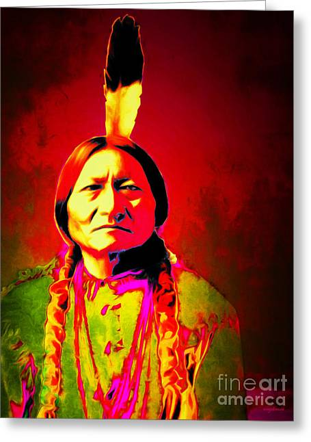 Chief Sitting Bull 20151228v2 Greeting Card by Wingsdomain Art and Photography