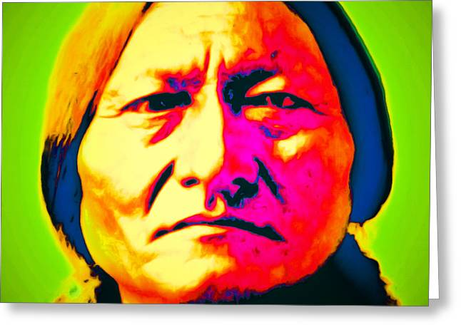 Chief Sitting Bull 20151230 Greeting Card by Wingsdomain Art and Photography