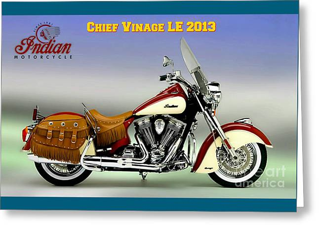 Chief Vintage Le 2013 Greeting Card