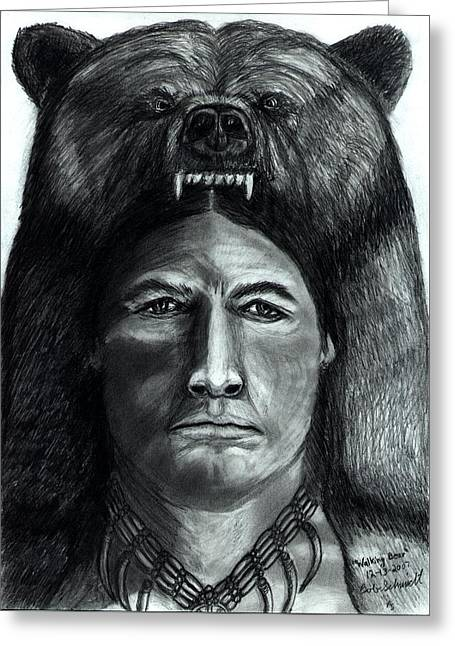 Chief Walking Bear Greeting Card by Bob Schmidt